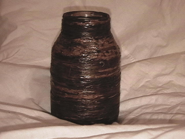 Faux Wicker Jar